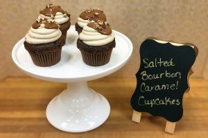 Salted Bourbon Caramel Cupcakes